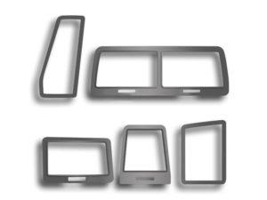 Steel Vent Dash Trim for 2008-2014 Dodge Challenger RT & SRT - Brushed Stainless (Set/5)