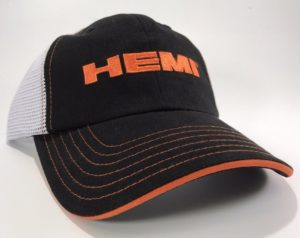 Dodge Hemi Hat - Black with White Mesh