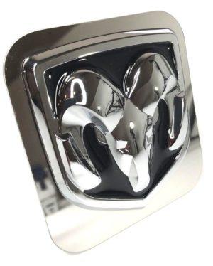 Dodge Ram Tow Hitch Cover - Black & Chrome