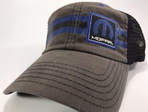 Mopar Hat - Blue Stripe Trucker