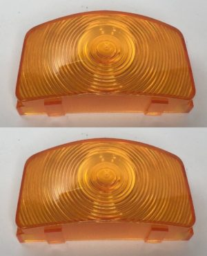 Parking Light Lenses for 1955-1956 Ford F-100, F-250, and F-350 - Amber