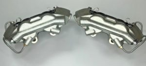 Pair of 1964-66 Ford Mustang Brake Calipers Loaded With Pads - Kelsey Hayes Style