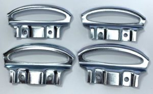 1949-1954 Chevy Fender Skirt Mounting Brackets - Set of 4 Steel Clips