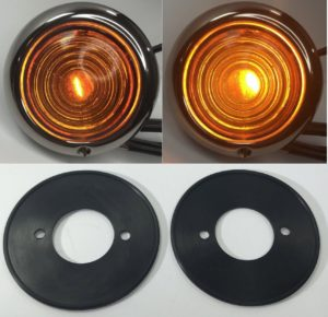 Parking Light Assemblies with Gaskets for 1947-48 Ford Cars and 1942-47 Trucks - Amber