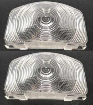 Parking Light Lenses for 1955-1956 Ford F-100, F-250, & F-350 - Clear