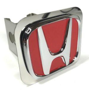 Honda Hitch Plug - Red & Chrome