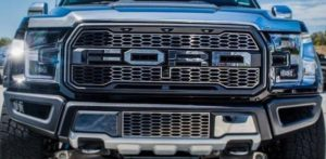 2017-2018 Ford Raptor Grille Letter Overlays - Polished Stainless Steel