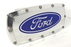 Ford Hitch Cover - Polished Aluminum