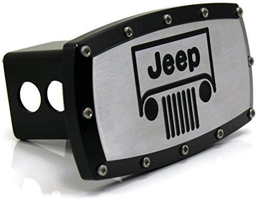 Jeep Hitch Cover - Black Grille Emblem