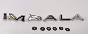 1964 Chevrolet Impala Emblem - Chrome Quarter Panel Letter Set