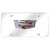 Cadillac License Plate - Chrome with Emblem