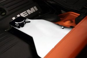 2011-2019 Dodge Challenger Water Tank Cover with Cap - Polished Stainless Steel