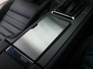 Cup Holder Lid Trim Panel Overlay For 2010-2014 Ford Mustang - Brushed