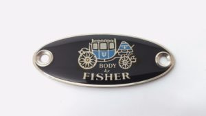 GM Body By Fisher Tag - Sill Plate Emblem