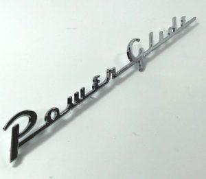 1954 Chevrolet Emblem - Chrome Powerglide Trunk Script Emblem