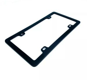 Black License Plate Frame - With or Without Screws & Caps