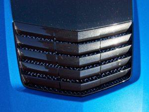 2014-2019 C7 Corvette Hood Vent Insert - Polished Stainless Steel