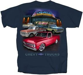 Chevy C10 T-Shirt with 1967-1972 Trucks Dealer Scene