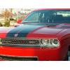 Pair of 2008-2014 Dodge Challenger Hood Scoop Overlays - Stainless Steel