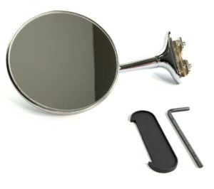 Door Edge Peep Mirror - Stainless Steel with Chrome Long Arm