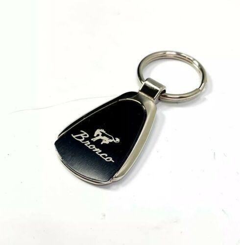 Ford Bronco Keychain - Black & Chrome Teardrop