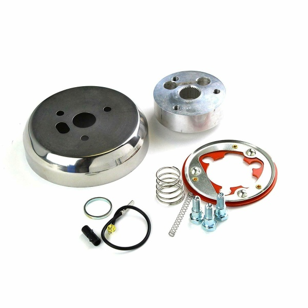 Polished 3 Hole Hub Adapter for 69-94 GM Chevy Buick Cadillac Chrysler