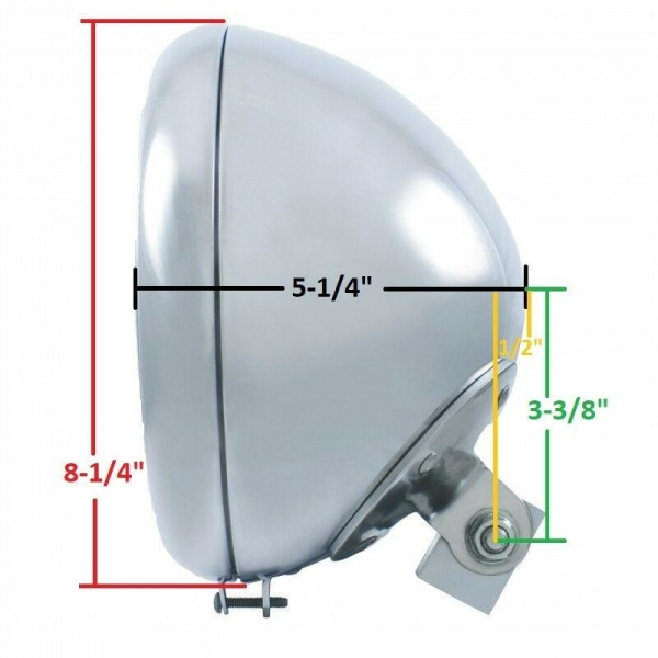 """7"""" Smooth Chrome Motorcycle Headlight Bucket - Fits: Harley"""