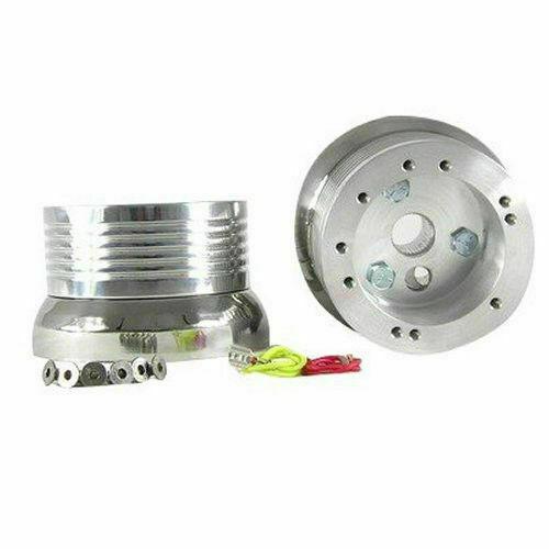 Polished 5/6 Hole Steering Wheel Hub Adapter for Volkswagen Models (E07)