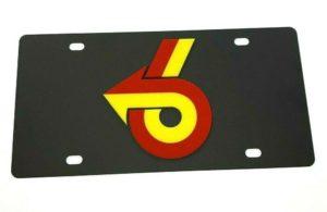 Buick Grand National Emblem Vanity License Plate - Black