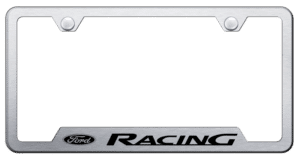 Ford Racing Stainless Steel License Plate Frame - Brushed