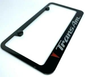 Pontiac Trans Am License Plate Frame - Black w/ Red and Silver Logos