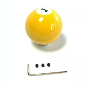 Pool Ball Gear Shift Knob (Yellow Solids, Number 1)