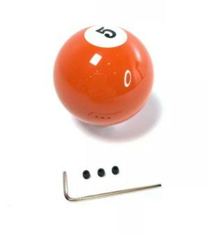 Pool Ball Gear Shift Knob (Orange Solids, Number 5)