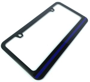 Police Thin Blue Line License Plate Frame - Black