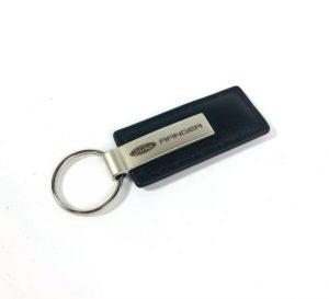 Ford Ranger Keychain - Black Leather