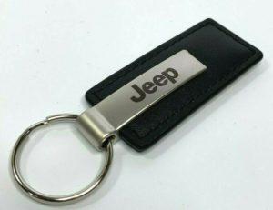 Jeep Keychain - Black Leather Key Chain