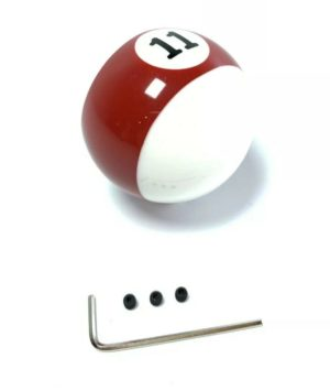 Pool Ball Gear Shift Knob (Stripes Red, Number 11)