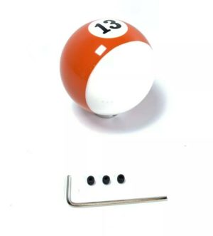 Pool Ball Gear Shift Knob (Stripes Orange, Number 13)