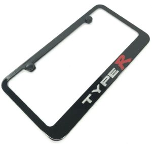 Acura License Plate Frame - Type R Black w/ Silver & Red Logo