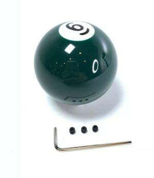 Pool Ball Gear Shift Knob (Solid Green, Number 6)