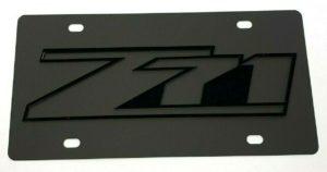 Chevy Z71 Emblem Vanity License Plate - Black