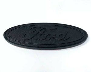 "Premium Billet Aluminum 5"" Inch Rear Ford Oval Emblem - Matte Black"