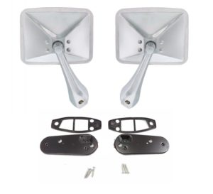 Pair Chrome Exterior Rearview Mirrors for 1970-1972 Chevy & GMC Pickup Trucks