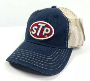 STP Oil Mesh Trucker Hat Cap - Dark Blue / Khaki