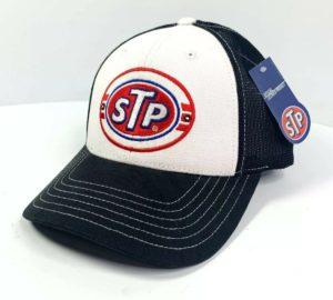 STP Oil Mesh Trucker Hat Cap - Black / White