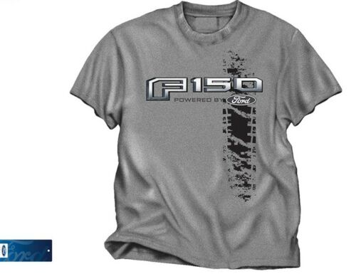 Ford 150 Truck T Shirt - Heathered Gray with F150 Powered by Ford Emblem
