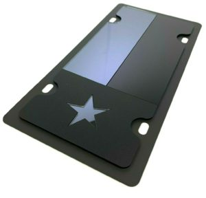 Texas Flag Vanity License Plate - Blacked Out Opaque