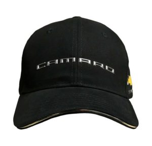 Chevy Camaro Hat - Black w/ Chrome Liquid Metal New Camaro Emblem
