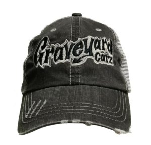 Graveyard Carz Trucker Hat - Gray Weathered / Distressed