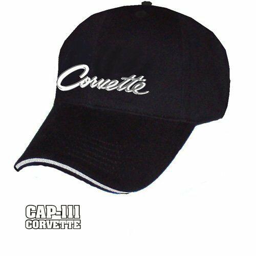 Corvette Hat - Black with 1963-1966 Liquid Metal Script